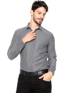 Camisa Vivacci Quadriculada Preta