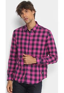 Camisa Xadrez Manga Longa Ellus 2Nd Floor Tecido Duplo Masculina - Masculino
