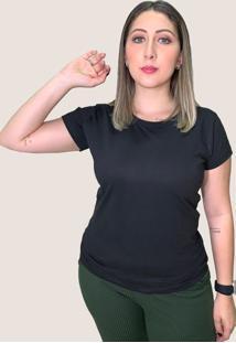 Camiseta Suffix Preta Gola Redonda Estampa Arco Iris Grande