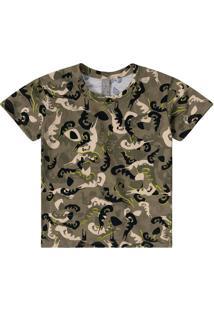 Camiseta Abstrata- Verde Militar & Pretalilica Ripilica E Tigor T. Tigre