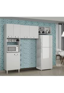 Cozinha Compacta 3 Peças Granada Sallêto Móveis Branco
