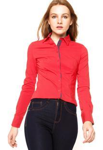 Camisa Facinelli Lisa Botões Vermelha