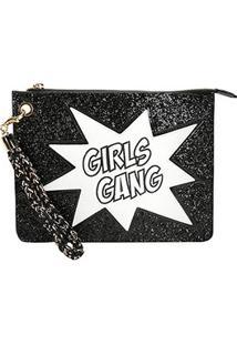 Clutch Loucos & Santos Girls Gang - Feminino-Preto