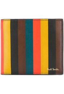 Paul Smith Carteira Bright Listrada - Marrom