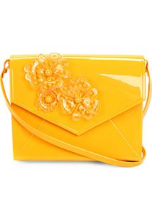 Bolsa Petite Jolie Flap Express Feminina - Feminino-Amarelo