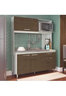 Cozinha Compacta 4 Portas 1 Gaveta Bela Casamia Snow/Dark