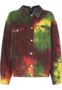 Msgm Jaqueta Jeans Com Efeito Tie Dye - 03 Multi
