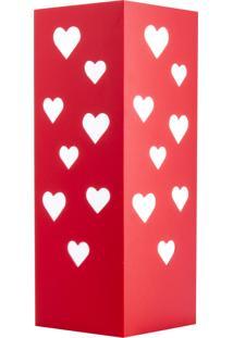 Abajur Corações Namorados Carambola Vermelho