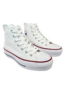 Tênis Bota All Star Chuck Taylor Lift Branco Clássico Skate