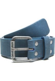 Cinto Calvin Klein Jeans Fivela Azul