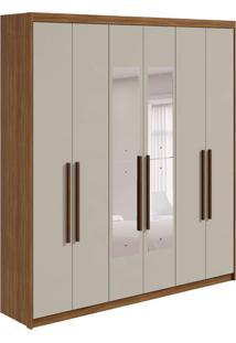 Guarda-Roupa Casal Com Espelho Libra 6 Pt 3 Gv Rovere E Off White