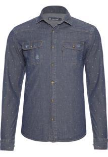 Camisa Masculina Clint - Azul