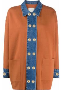 Sandro Paris Cardigan Bicolor - Marrom
