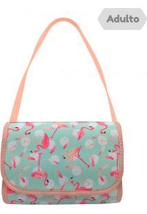 e2bc4f7c6 ... Bolsa De Ombro Adulto Flamingo Pêssego - Mz Kid