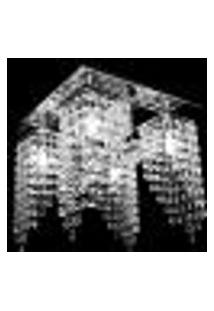 Lustre Cristal Legitimo Plafon 4*G9 Quadrado 30X30X25Cm - Jp/Toyota/Plus