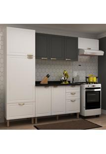 Cozinha Completa 5 Peã§As Americana Multimã³Veis 5690 Branco/Grafite - Branco/Incolor - Dafiti