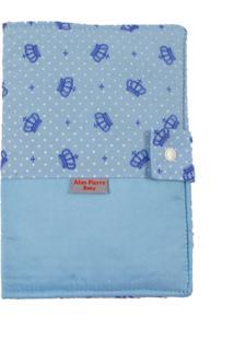 Capa Para Cartão De Vacinação - Alan Pierre Baby - Coroa Azul Claro