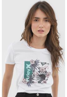 Camiseta Hurley Oao Floral Branca - Kanui