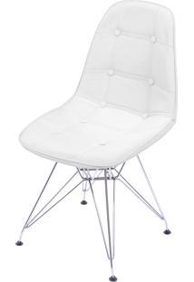 Cadeira Dkr Botone Com Base De Metal Perast – Branca