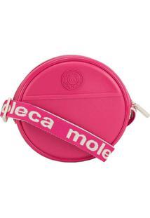 Bolsa Tiracolo Moleca Redonda Texturizada Pink Ros
