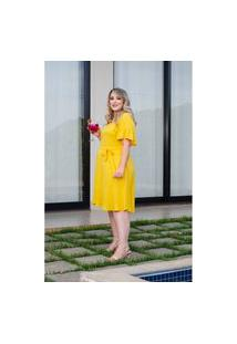 Vestido Helena Amarelo Plus Size 56 Domenica Solazzo Vestidos Curtos Amarelo