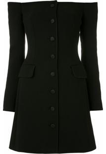 Dolce & Gabbana Vestido Curto De Lã - Preto
