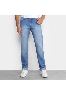 Calça Jeans Skinny Coca-Cola Estonada Masculina - Masculino-Azul Claro