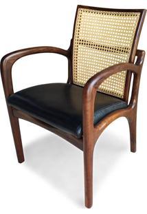 Cadeira Com Braço Vk Palhinha Indiana Madeira Maciça Design By Vladimir Kagan