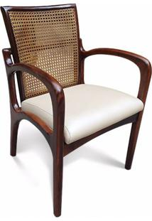 Cadeira Vk Com Braço Palhinha Natural Indiana Inspirada No Design De Vladimir Kagan