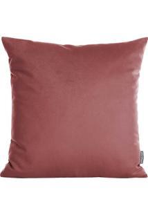Capa Para Almofada Aveludada- Rosa Escuro- 42X42Cm