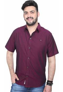 Camisa Slim Victor Deniro Allegro Roxo