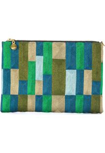 Anne Grand Clement Clutch De Seda Com Padronagem - Estampado