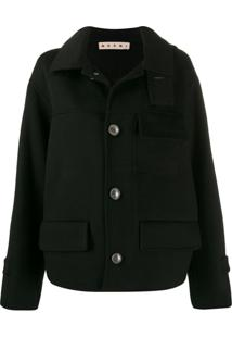 Marni Double-Face Short Coat - Preto