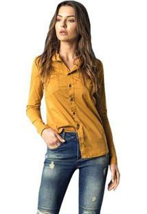 Camisa Brix Feminina - Feminino-Amarelo