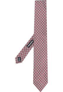 Dsquared2 Gravata De Seda Com Padronagem - Vermelho