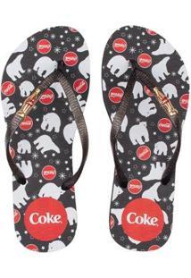 Chinelo Coca Cola Coke Bear Feminino - Feminino