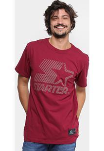 Camiseta Starter Stripes Masculina - Masculino-Vinho