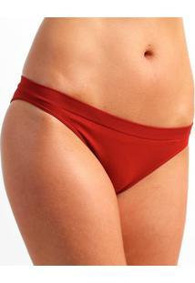Calcinha Sem Costura Lupo Básica - Feminino-Vermelho