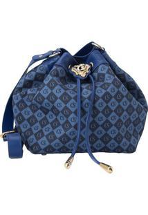 Bolsa Saco ''Csâ®''- Azul Marinho & Azul- 22X25X14Cmcarmen Steffens