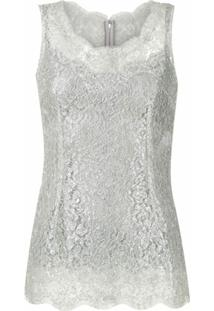 Dolce & Gabbana Blusa De Renda - Prateado
