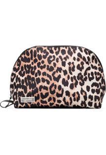 Ganni Clutch Com Estampa Leopardo - Marrom