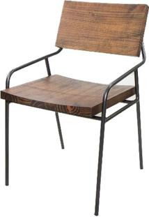 Cadeira Vail Assento Rustic Brown Base Aço Grafite 76Cm - 45789 - Sun House