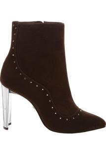 Bota Glam Metallic Heel Brown | Schutz