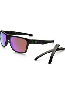 Óculos Oakley Crossrange Polished Black Prizm Golf - Masculino