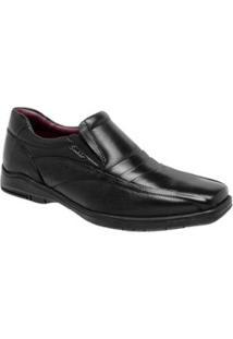 Sapato Social Sândalo Confort Time Masculino - Masculino-Preto