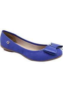Sapatilha Acamurçada Com Laço- Azul Royalcarmen Steffens