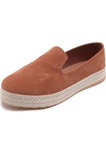 Slipper Dafiti Shoes Pesponto Caramelo