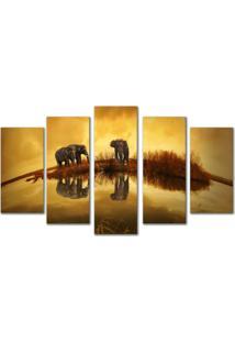 Quadros Decorativos Elefantes Na Savana - Unico - Dafiti