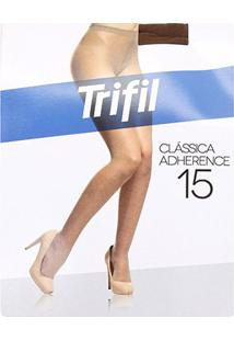 Meia Calça Trifil Adherence Fio 15 Feminina - Feminino-Marrom Escuro