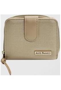 Carteira Feminina Alice Palucci - Feminino-Dourado